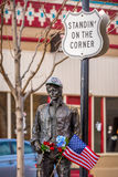 Stå på hörnet Winslow, Arizona Arkivbild
