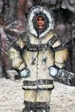 Stå upp av en eskimo attrapp royaltyfri bild