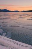 Stående Abraham Lake Landscape Arkivfoto