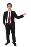 Stående affärsman som gör presentation royaltyfria foton