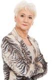 Stående av äldre kvinna. royaltyfri foto