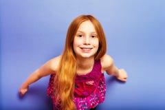 Stående av årig flicka små 10 Fotografering för Bildbyråer