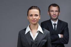 Stående av affärsman- och kvinnligpartners arkivfoton