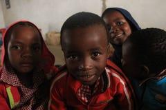 Stående av afrikanska barn, pojkar och flickor, Swaziland, Afrika Royaltyfri Bild