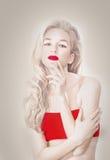 Stående av albinomodellen royaltyfri foto