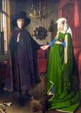 Stående av Arnolfini av Jan van Eyck på National Gallery av London royaltyfri foto