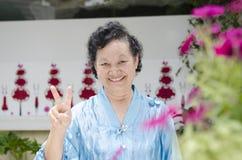 Stående av asiatisk åldring Royaltyfri Foto