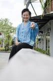 Stående av asiatisk åldring Royaltyfri Fotografi