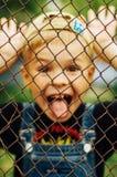 Stående av att le årig pojke sju Årig pojke sju med Royaltyfri Foto