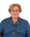 Stående av att le den gamla kvinnan Fotografering för Bildbyråer