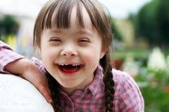Stående av att le för flicka Arkivbild