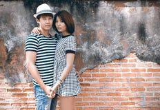 Stående av attraktiva asiatiska par Royaltyfri Foto