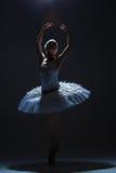 Stående av ballerina i baletttatu på dack Royaltyfri Fotografi