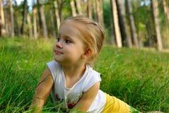 Stående av barnet Arkivfoto