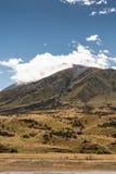 Stående av berget på mellersta jord, Nya Zeeland Fotografering för Bildbyråer
