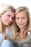 Stående av blonda flickor Arkivfoton