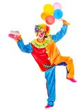 Stående av clownen. Arkivfoton