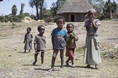 Stående av de afrikanska barnen Arkivfoton