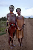 Stående av de afrikanska flickorna Royaltyfria Bilder