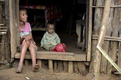 Stående av de afrikanska flickorna Arkivfoto