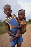 Stående av de afrikanska pojkarna Arkivbild