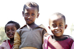 Stående av de afrikanska pojkarna Royaltyfri Fotografi