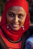 Stående av den afrikanska kvinnan Royaltyfri Fotografi
