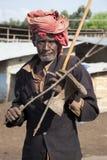 Stående av den afrikanska mannen Arkivbilder