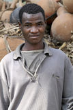 Stående av den afrikanska mannen Arkivfoton