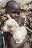 Stående av den afrikanska pojken Royaltyfri Bild