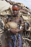 Stående av den afrikanska pojken Arkivfoto