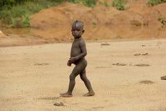 Stående av den afrikanska pojken Royaltyfri Foto