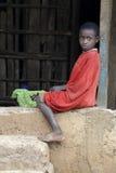 Stående av den afrikanska pojken Royaltyfri Fotografi