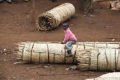 Stående av den afrikanska pojken Fotografering för Bildbyråer