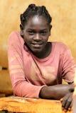 Stående av den afrikanska skolflickan Royaltyfri Bild