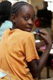 Stående av den afrikanska skolflickan Royaltyfria Bilder