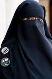 Stående av den arabiska kvinnan Arkivbilder