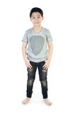 Stående av den asiatiska gulliga pojken Royaltyfri Fotografi