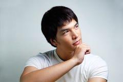 Stående av den asiatiska manliga modellen Royaltyfri Foto