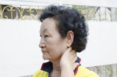 Stående av den asiatiska pensionären Royaltyfri Foto
