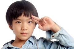 Stående av den asiatiska pojken Fotografering för Bildbyråer