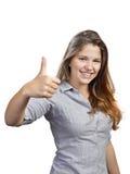Stående av den attraktiva unga kvinnan Fotografering för Bildbyråer
