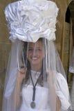 Stående av den beslöjade unga spanska damen, La Rioja royaltyfri bild