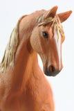 Stående av den bruna hästleksaken Royaltyfri Fotografi