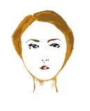 Stående av den eleganta flickaståenden av den eleganta flickan med snittet för kort hår Arkivfoton