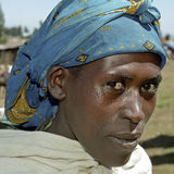 Stående av den etiopiska unga kvinnan Royaltyfria Foton