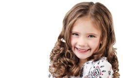 Stående av den förtjusande le lilla flickan Fotografering för Bildbyråer