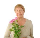 Stående av den gammalare kvinnan Royaltyfria Foton