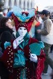 Stående av den härlig och karnevalmaskeringen som föreställer himlen och stjärnorna i Venedig Arkivbilder