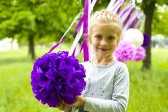 Stående av den härliga femåriga giren Royaltyfri Bild